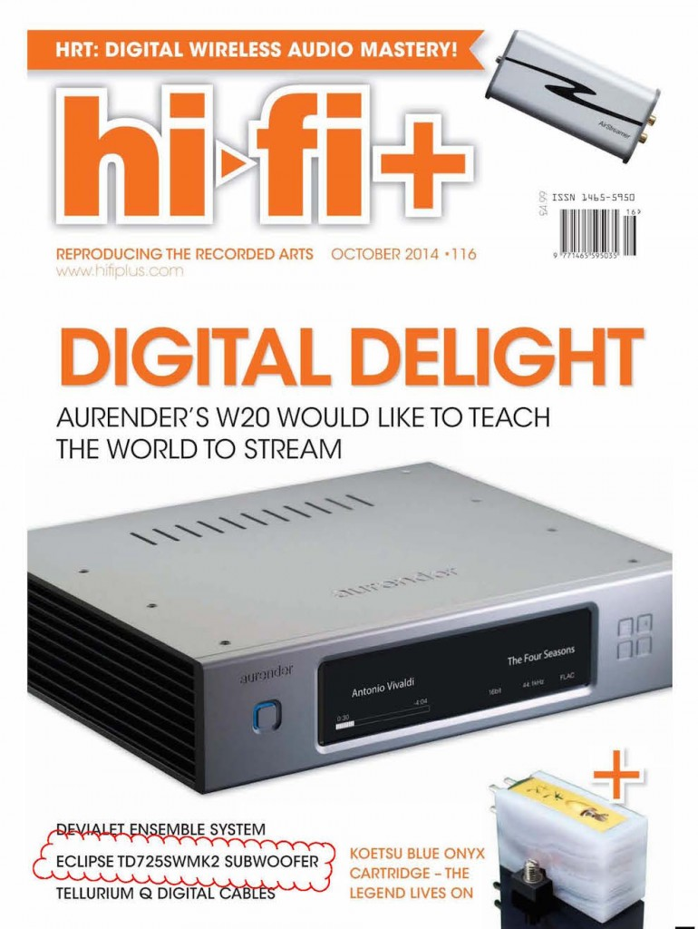 Review of Eclipse TD TD725swMk2 by HiFi+ Alan Sircom http://www.nextnewsstand.com/products/hi-fi-plus/hifi-116/