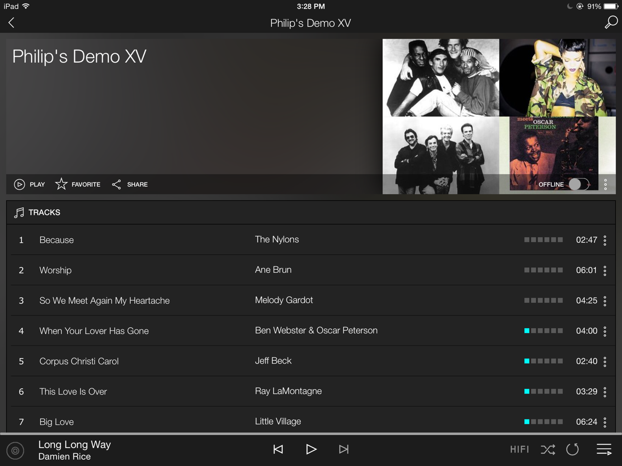 Philip's Demo 15 playlist