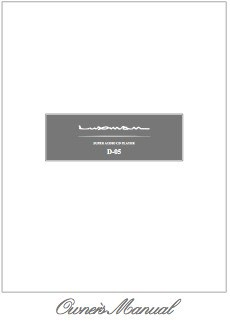 Luxman D-05 Manual