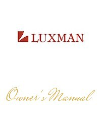 Luxman P-10 Owner's Manual