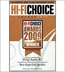 K1 Hi-Fi Choice Award 2009