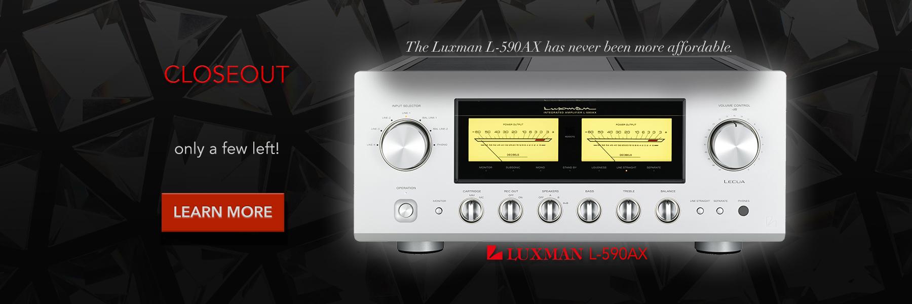 Luxman L-590AX closeout