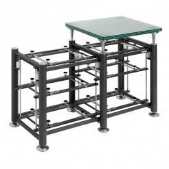Artesania Exoteryc 3 Level Tandem Rack with Glass Platform (side view)