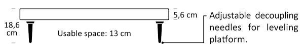 Artesania Krion platform dimensions