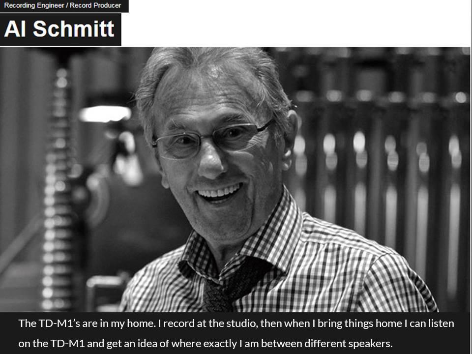 Al Schmitt TD-M1 endorser