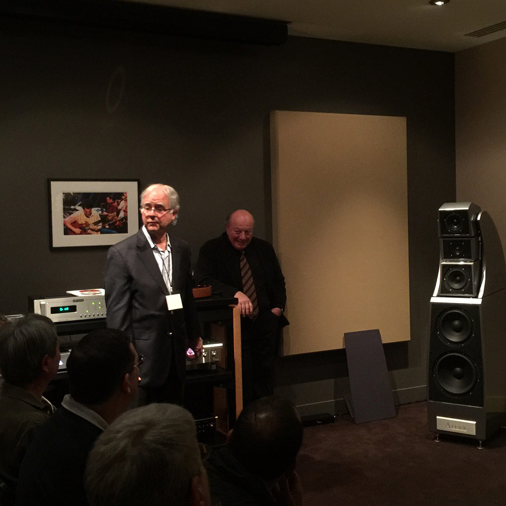 "Pete McGrath was proud to debut the new Wilson ""ALEXX"" loudspeakers."