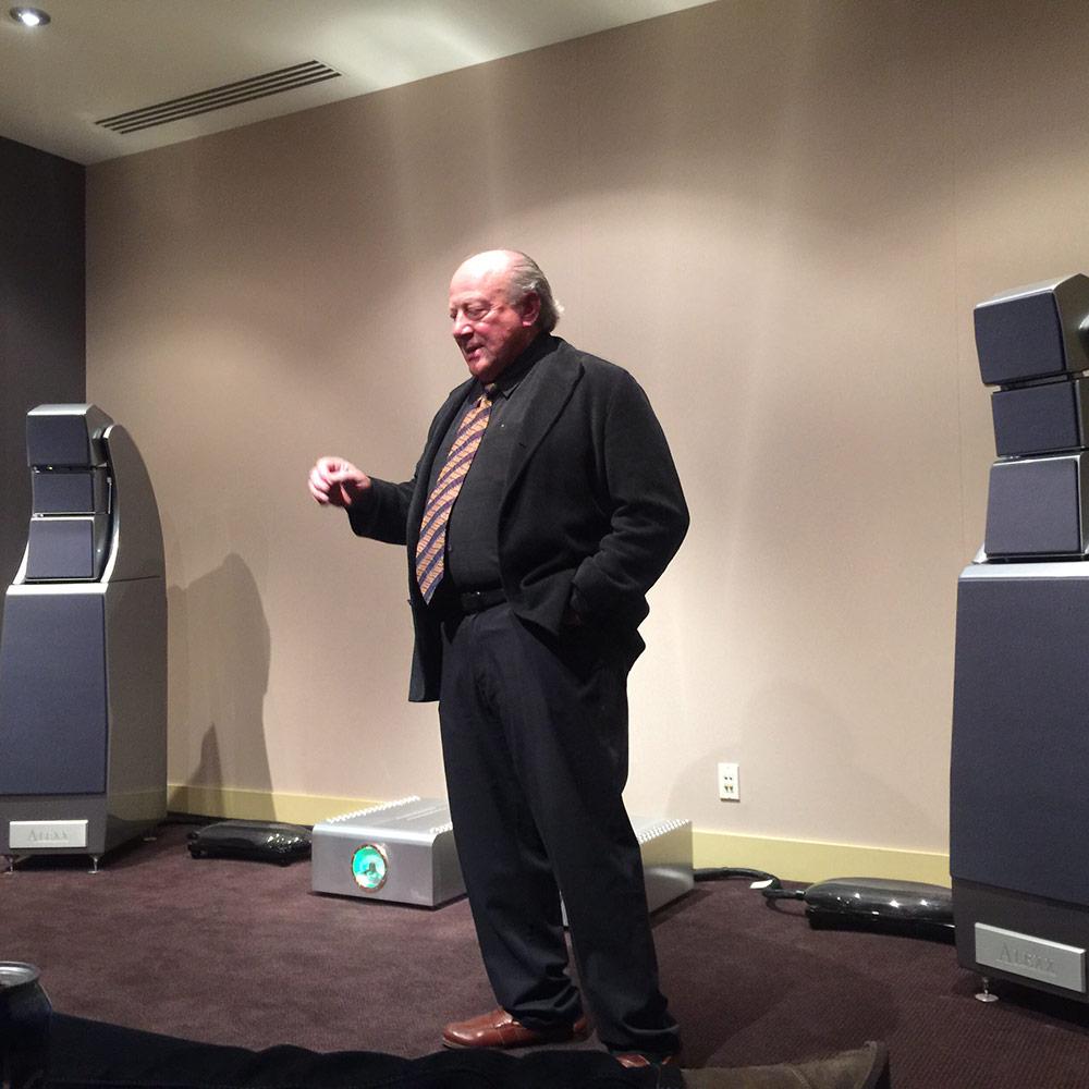 """Dan D'Agostino presented his new """"Progression"""" mono block amplifiers."""