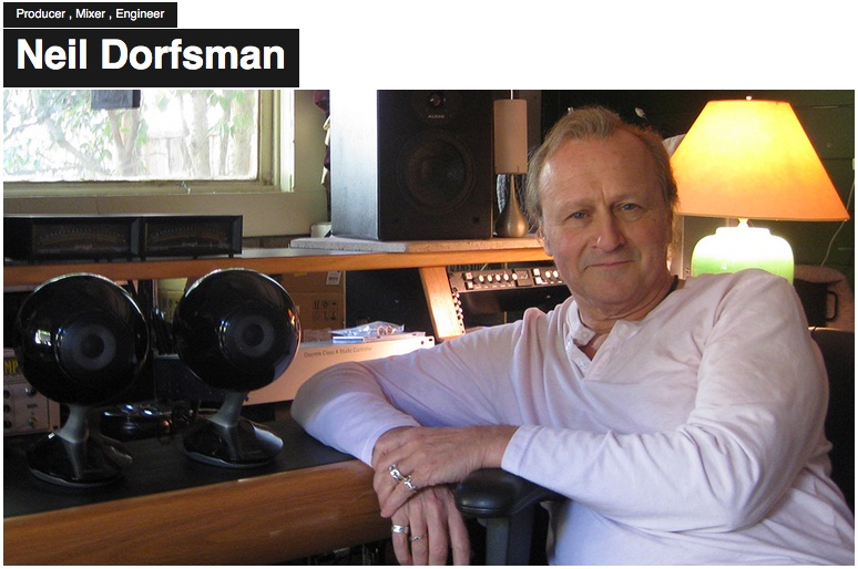 Grammy Award winning producer, mixer and engineer Neil Dorfsman