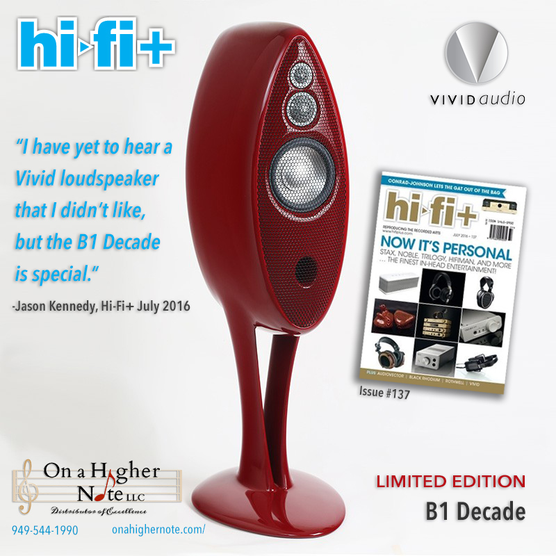HI-FI+ review of Vivid B1 Decade