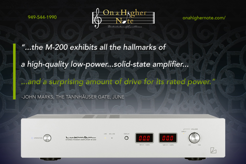 john marks reviews luxman m 200 stereo power amp on a higher note. Black Bedroom Furniture Sets. Home Design Ideas