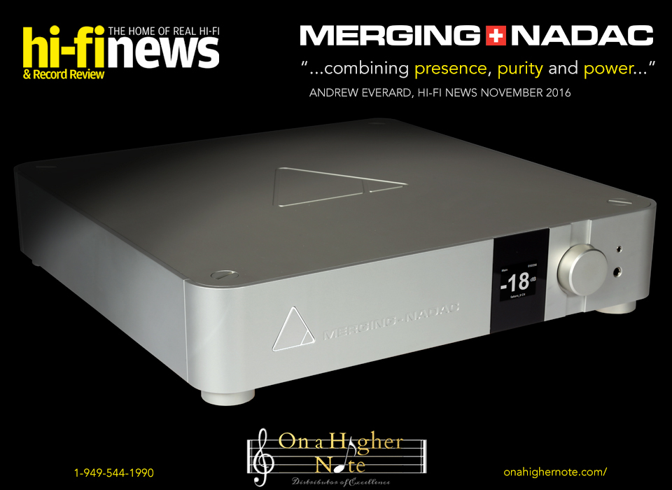 Hi-Fi News Merging+NADAC review November 2016
