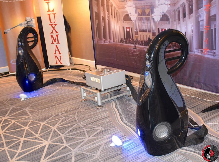 Vivid G3 loudspeakers with Luxman components at RMAF 2016. Photo credit: John Stancavage, Part-Time Audiophile