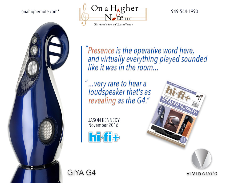 Hi-Fi+ review of Vivid Audio Giya G4 loudspeaker