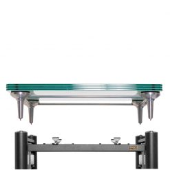 artesania treated glass turntable platform