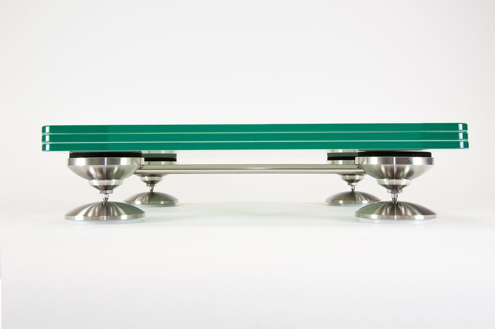 Artesania Treated Glass Electronic Floor Platform On A