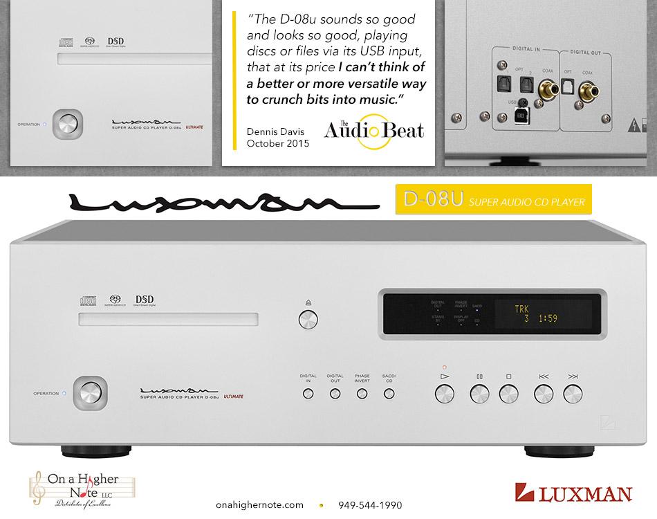 Audio Beat Review of Luxman D-08u SACD player
