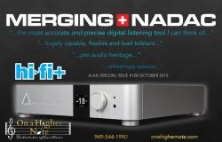 Merging NADAC review by Alan Sircom in Hi-Fi+