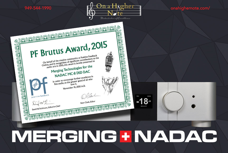 Positive Feedback Brutus Award 2015 for MERGING+NADAC