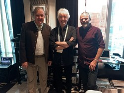 From left to right: Philip O'Hanlon, Graham Nash and Laurence Dickie at CES 2016.
