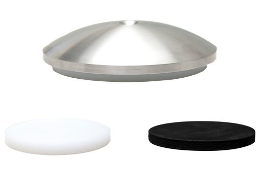 Exoteryc decoupling disc with both types of damping pads